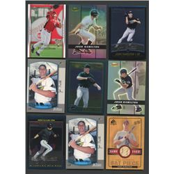 Lot of (22) Josh Hamilton Cards with Rookie Cards & Game-Used (BV $120+)