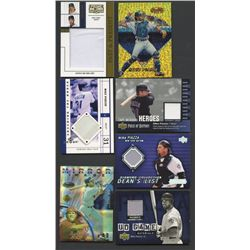 Lot of (7) Mike Piazza Cards with Game-Used & Rare Inserts (BV $95+)