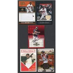 Lot of (5) Miguel Tejada Cards with Game-Used & Autographed Inserts (BV $80)