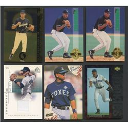 Lot of (14) Alex Rodriguez Cards with Game-Used & Rookie Cards (BV $90+)