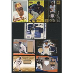 Lot of (8) Tony Gwynn Cards with Game-Used & Rare Inserts (BV $115+)