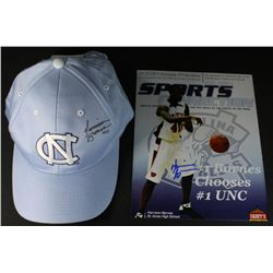 Lot of (2) Harrison Barnes Signed Items With 8x10 Photo and North Carolina Hat (PA LOA)
