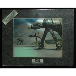 Star Wars 1994 Limited Edition Chromium Print: Imperial AT-AT Attack (Lucasfilm COA)