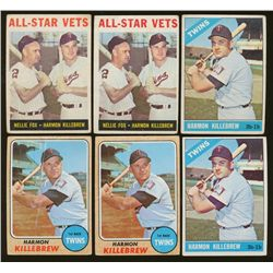 Lot of (6) Vintage Harmon Killebrew Baseball Cards (BV $84)