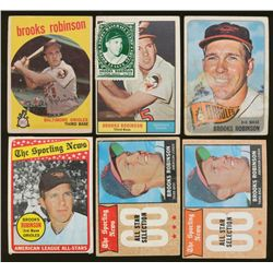 Lot of (6) Vintage Brooks Robinson Baseball Cards (BV $164)
