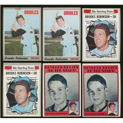 Lot of (12) Vintage Brooks Robinson Baseball Cards