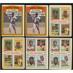 Lot of (12) Vintage Hank Aaron Baseball Cards