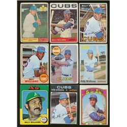 Lot of (13) Vintage Billy Williams Baseball Cards