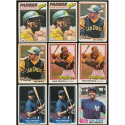 Lot of (20) Vintage Dave Winfield Baseball Cards