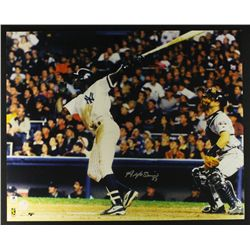 Alfonso Soriano Signed Yankees 16x20 Photo (GA COA)