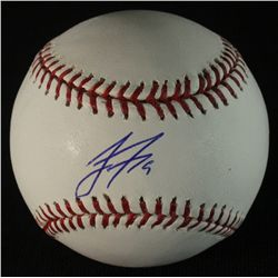 Jake Fox Signed OML Baseball (JSA COA)