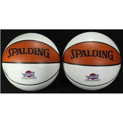 Lot of (2) Cavaliers Logo Spalding Basketballs