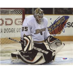 Jean-Sebastien Giguere Signed Ducks 8x10 Photo (PSA COA)