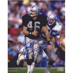 "Todd Christensen Signed Raiders 8x10 Photo Inscribed ""XV, XVIII"" (AAA COA)"
