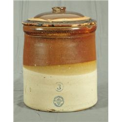 3 Gallon McDade Stoneware Pottery Jar with Lid