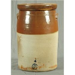 McDade Texas 4 Gallon Stoneware Pottery Churn