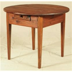 Round Texas Cedar Table
