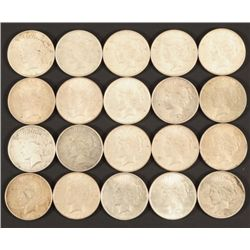 Twenty $1 Liberty Silver Dollars