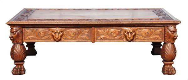 Ordinaire Image 1 : Oak Claw Foot Coffee Table ...