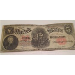 "1907 $5 ""WOODCHOPPER"" CURRENCY, AU"