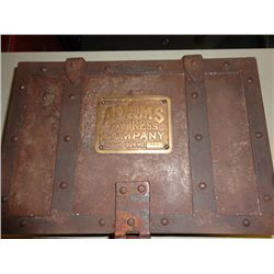 "ADAMS EXPRESS OLD WEST  METAL STRONG BOX, 5.5""X10.5""X6.5"", WEIGHS 30 Lbs"