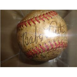 Authentic Hand Signed Babe Ruth Baseball with 2 COA'S