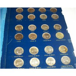 COMPLETE SET 1938-1964 BU JEFFERSON NICKELS INCLUDING ALL 11 SILVER , 70 PCS TOTAL