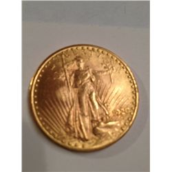 1920 $20 GOLD ST GAUDENS MS-63