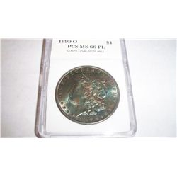 1899-O MORGAN SILVER DOLLLAR, PCS GRADED MS-66 PROOFLIKE