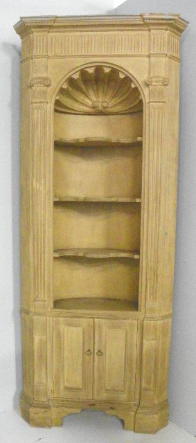 ... Image 2 : Shell Carved Mid Century Corner Cabinet ...