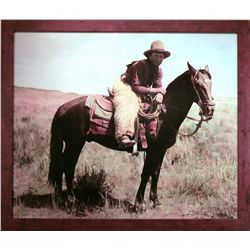 "Huffman, L.A.,  Honeycutt on White Star 1904, HC photograph, 36"" x 30""."
