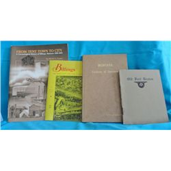 Group of 4 historical pamphlets:  Old Fort Benton by W.S. Bell, 1909; Montana Territory of Treasures