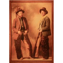 "Huffman, L.A., Two Cowboys Wearing Wooly Chaps 1890's, HC photograph, 48"" x 33 ½""."
