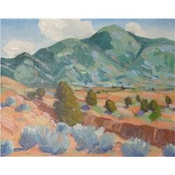 "Taos Valley. Waugh, Tom. Oil on Board. 8"" x 10""."
