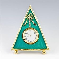 Green Triangle Clock Faberge Frame
