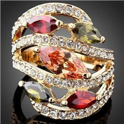 GT0522120048 Lovely Multicolor Crystal Ring size 8