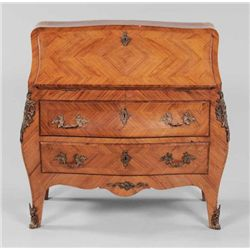 MWF1330 Louis XV Style Parquetry Bomb_ Desk French