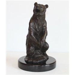 Striking Bronze Sculpture Grizzly Bear
