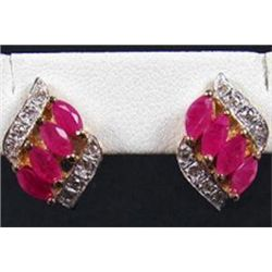 4.5 Ct. Ruby and Diamond Earings  RPEX1B