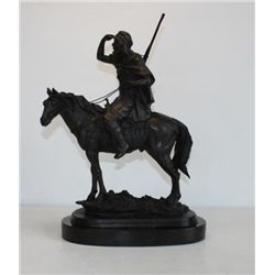 Magnificent Bronze Sculpture Scout
