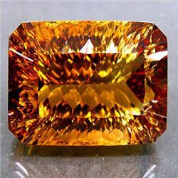 HUGE 65.35ct. UNHEATED Millennium Cut IMPERIAL TOPAZ MW