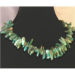 RAVISHING BLUE GREEN GRADUATED TURQUOISE NECKLACE MWF17