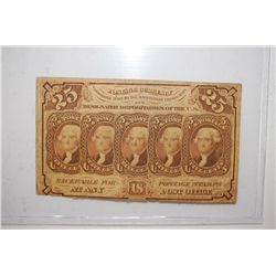US Postage Currency 25 Cent; EST. $3-5