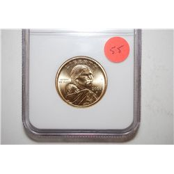 2000-P Sacagawea $1; NGC Graded MS66; EST. $5-10
