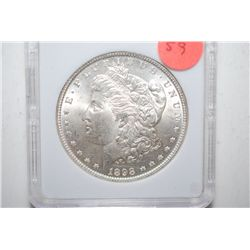1898 Silver Morgan $1; MCPCG Graded MS62; EST. $50-65