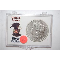 1886 Silver Morgan $1 In United States Silver Dollar Holder; EST. $30-40