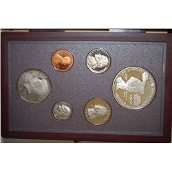 1983-S US Mint Prestige Proof Set With Los Angeles XXIII Olympiad Discus Thrower Commemorative $1; E