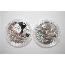 1999-P US Dolley Madison Commemorative $1; Lot of 2; Proof & UNC; EST. $75-100