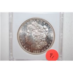 1881-S Silver Morgan $1; MCPCG Graded MS64; EST. $90-150