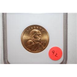 2006-S SMS US Sacagawea $1; NGC Graded MS66; EST. $5-10